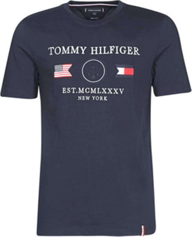 tommy hilfiger Tommy Hilfiger Trička s krátkým rukávem ANCHOR FLAGS RELAXED FIT TEE Modrá