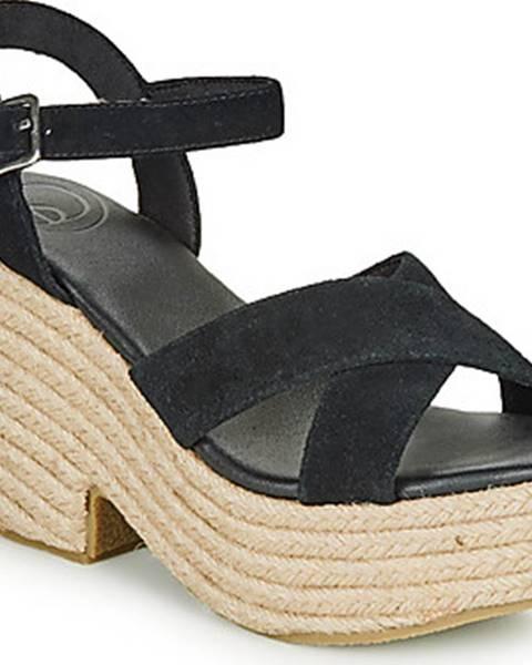 Černé sandály superdry
