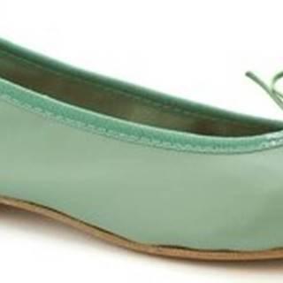 Leonardo Shoes Baleríny 6087 CUOIO NAPPA VERDE Zelená