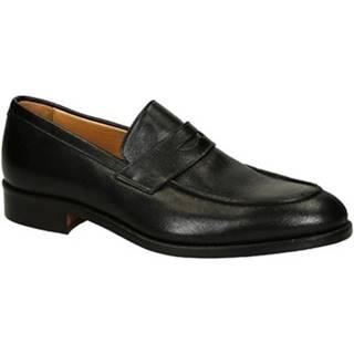 Leonardo Shoes Mokasíny 06651 FORMA 40 NAIROBI NERO Černá