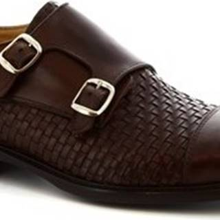 Leonardo Shoes Mokasíny 1218 INTRECCIATO T. MORO Hnědá