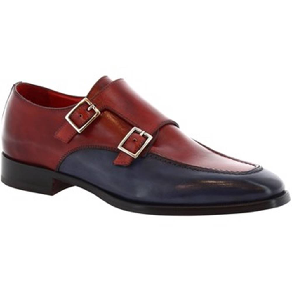 Leonardo Shoes Leonardo Shoes Mokasíny 8742E19 TOM VITELLO DELAVE BLUETTE Červená