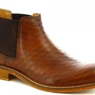 Leonardo Shoes Kotníkové boty 1046_1 PE VITELLO CUOI Hnědá