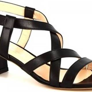 Leonardo Shoes Sandály 5126 NAPPA NERO Černá