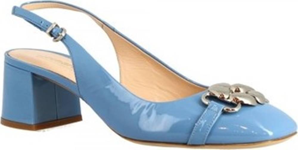 Leonardo Shoes Leonardo Shoes Lodičky 4528 VERNICE CELESTE Modrá