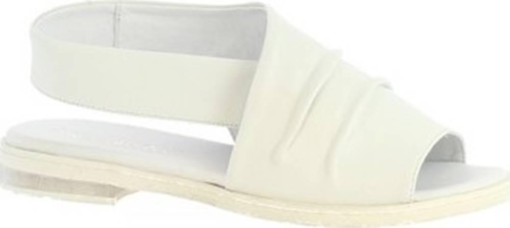 Leonardo Shoes Leonardo Shoes Sandály LISA 02 NAPPA OFF WHITE Bílá