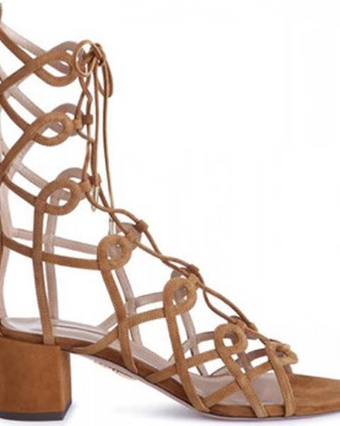 Béžové sandály Aquazzura