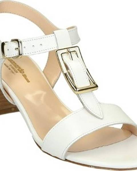 Bílé sandály Leonardo Shoes