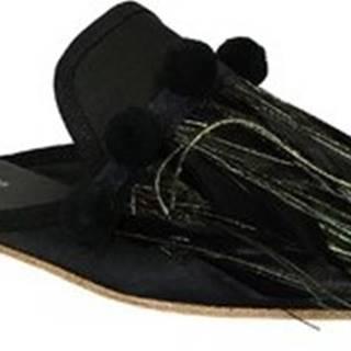 Gia Couture Pantofle VENUS SATIN B Černá