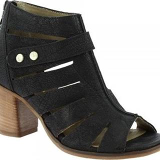 Leonardo Shoes Kotníkové kozačky 3606 NERO Černá