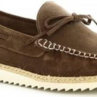 Leonardo Shoes Mokasíny 244 CAMOSCIO LONDON