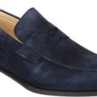 Leonardo Shoes Mokasíny PINA 8 CAMOSCIO BLU Modrá