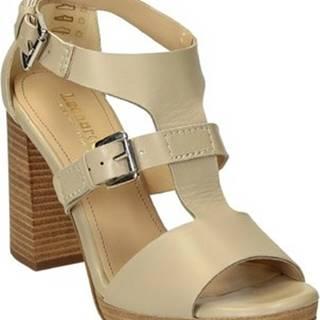 Leonardo Shoes Sandály 1504/1 GUANTINO AVENA Béžová