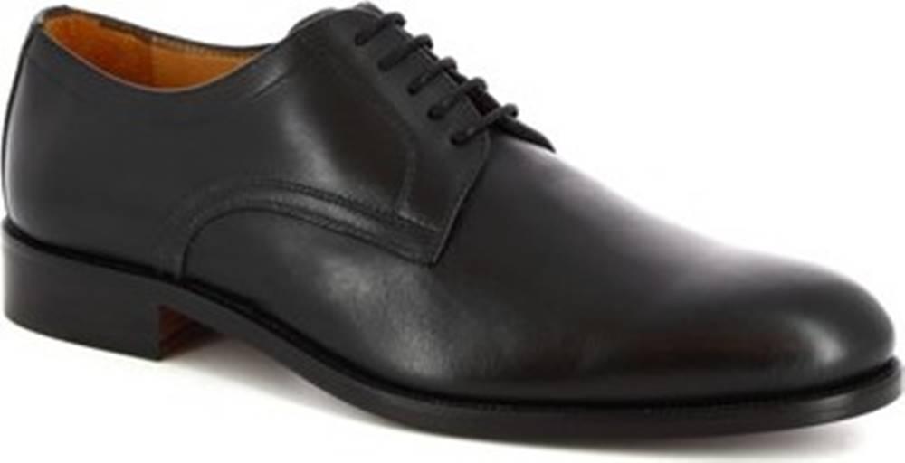 Leonardo Shoes Leonardo Shoes Šněrovací polobotky 07692 NAIROBI NERO Černá