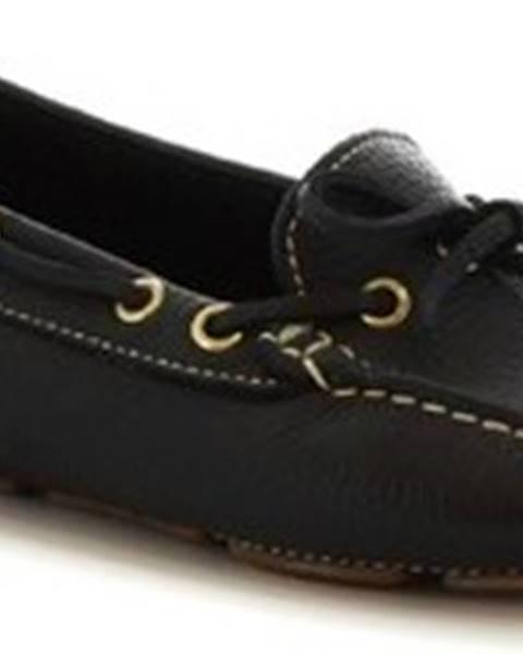 Černé mokasíny Leonardo Shoes