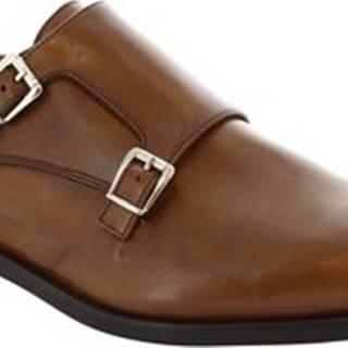 Leonardo Shoes Mokasíny 07674 NAIROBI CUOIO Hnědá