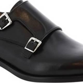 Leonardo Shoes Mokasíny 07674 NAIROBI NERO Černá