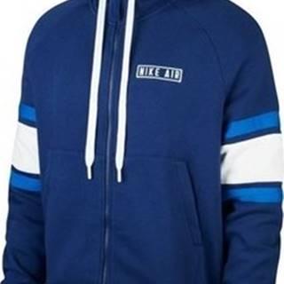 Nike Mikiny Nsw Air Hoodie Fleece Modrá