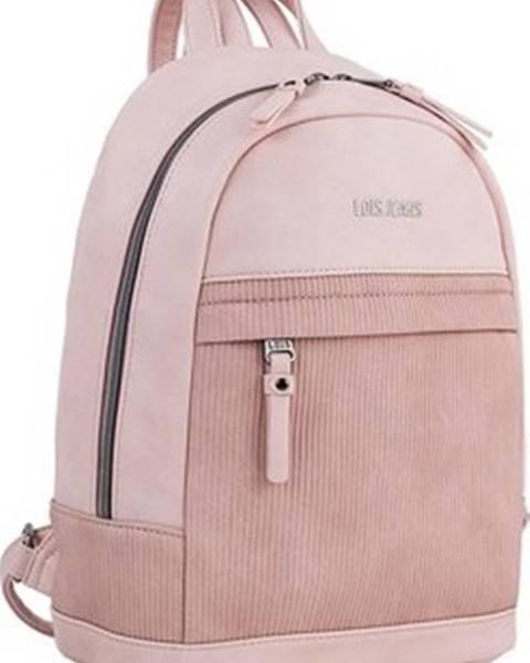 Růžový batoh Lois