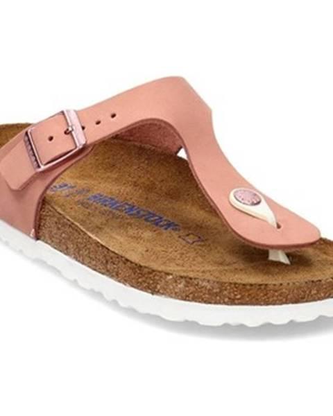 Růžové pantofle Birkenstock