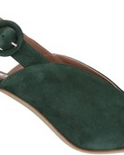Zelené sandály TRES JOLIE