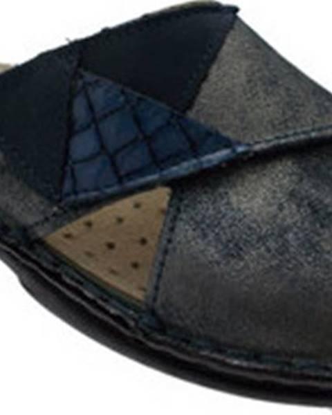 Modré pantofle Calzaturificio Loren