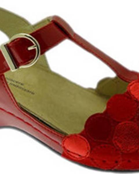 Červené sandály Calzaturificio Loren