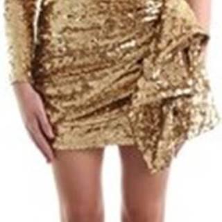 Elisabetta Franchi Krátké šaty AR40J97E2 Zlatá