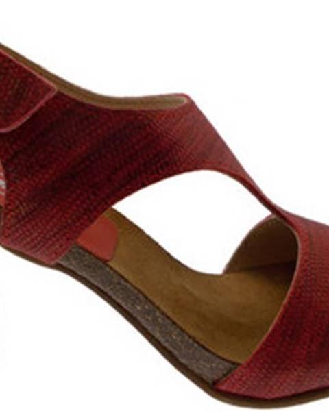 Černé sandály Calzaturificio Loren