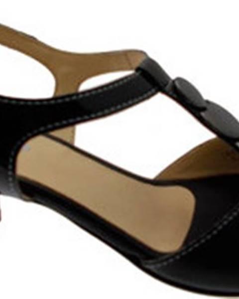 Černé sandály Melluso