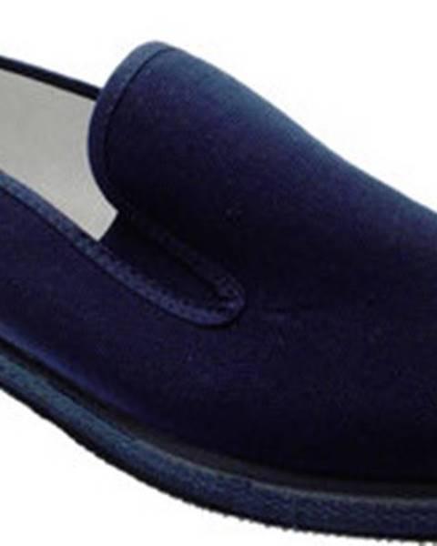 Modré domácí boty Davema