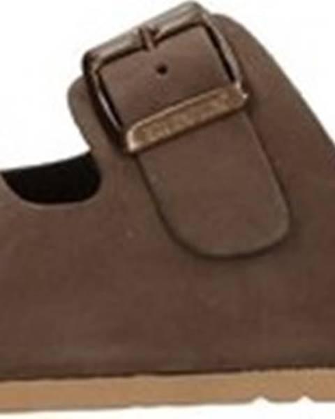 Hnědé pantofle Bionatura