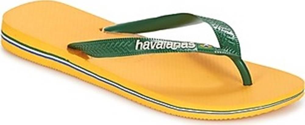 havaianas Havaianas Žabky BRAZIL LOGO Žlutá
