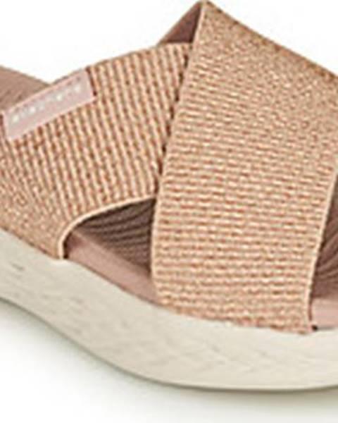 Fialové sandály Skechers