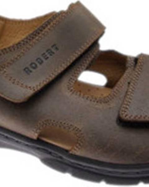 Hnědé sandály ROBERT