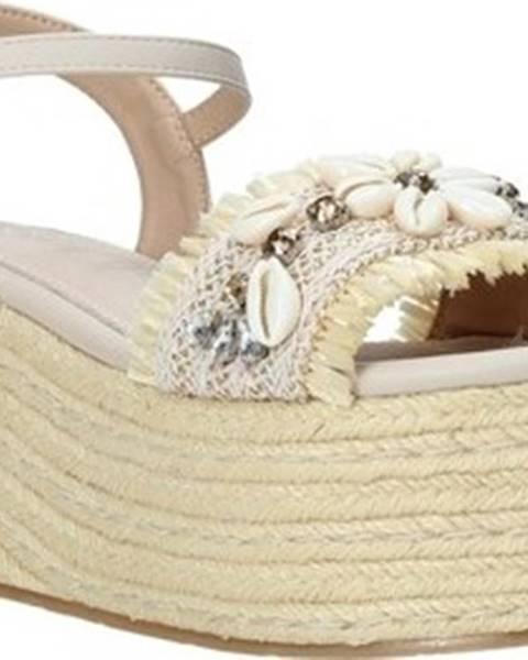 Béžové sandály Gold gold