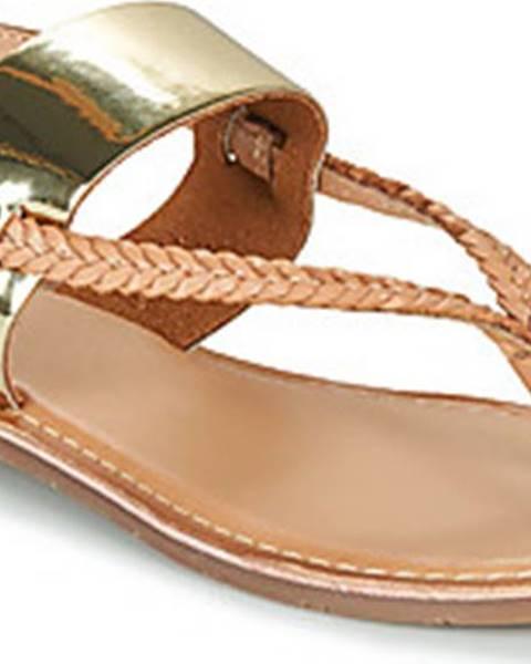 Zlaté sandály Kickers