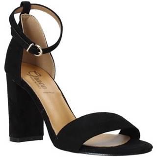 Grace Shoes Sandály 934G003 Černá