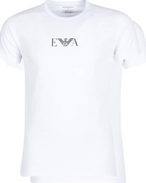 Bílé tričko Emporio Armani