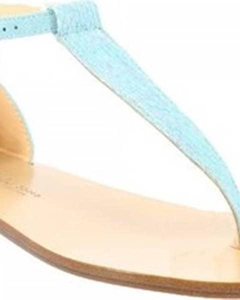 Modré sandály Leonardo Shoes