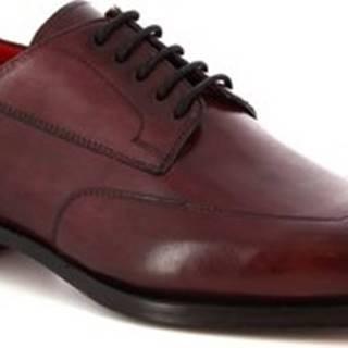 Leonardo Shoes Šněrovací polobotky 9047/19 TOM VITELLO BORDEAUX Červená