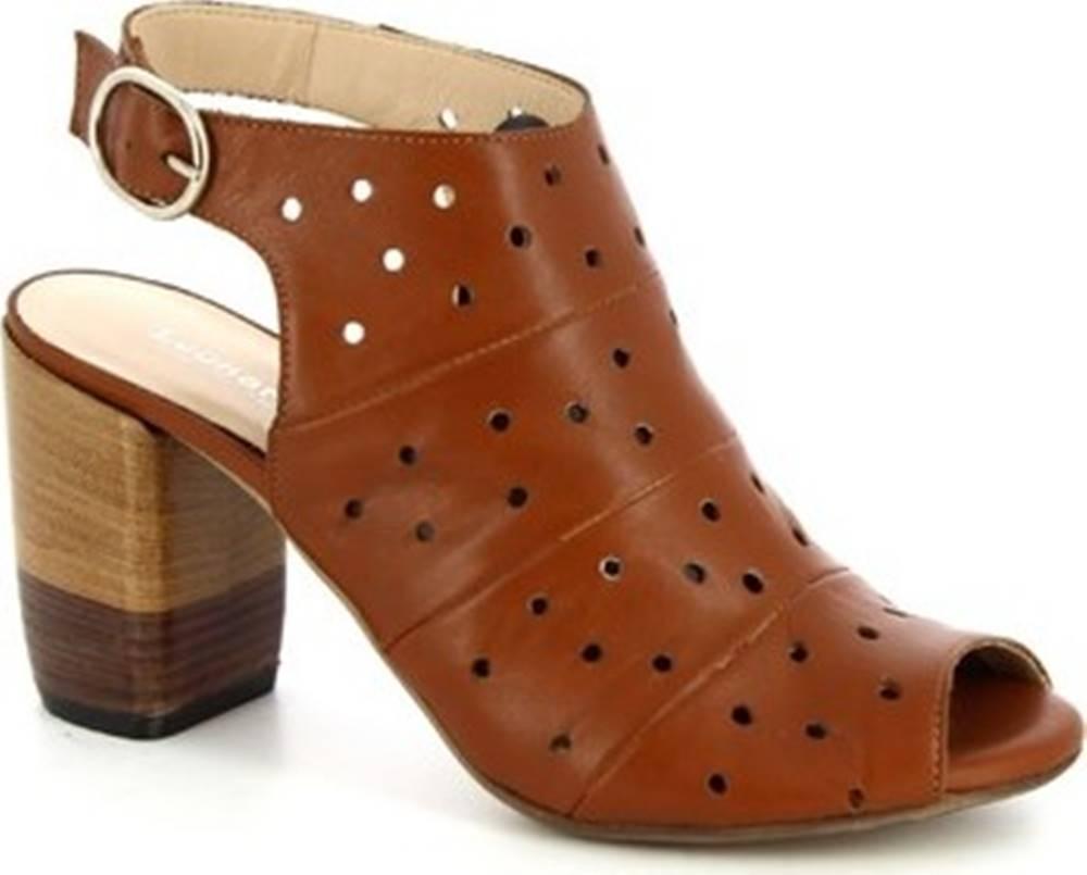 Leonardo Shoes Leonardo Shoes Sandály 4676 VITELLO TAN Hnědá