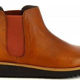 Leonardo Shoes Kotníkové boty 4526 CUOIO Hnědá