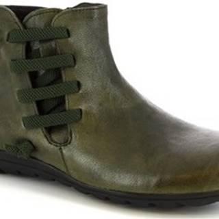 Leonardo Shoes Kotníkové boty 4527 VERDE Zelená