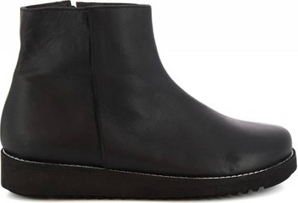 Leonardo Shoes Leonardo Shoes Kotníkové boty 4500 NERO Černá