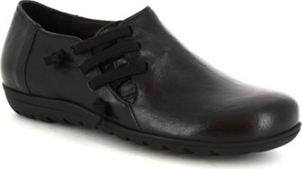 Leonardo Shoes Leonardo Shoes Kotníkové boty 4524 NERO Černá