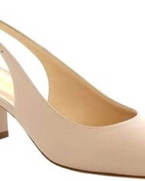 Béžové boty Leonardo Shoes