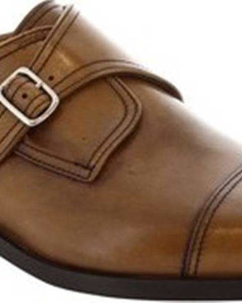 Hnědé mokasíny Leonardo Shoes