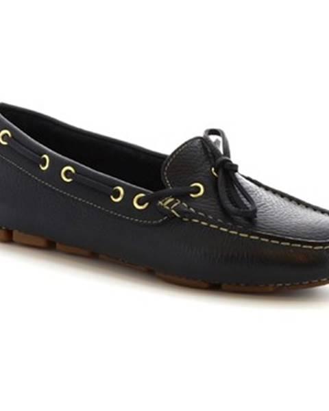 Modré mokasíny Leonardo Shoes