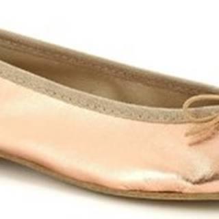 Leonardo Shoes Baleríny 6087 CUOIO LAMINATO Růžová